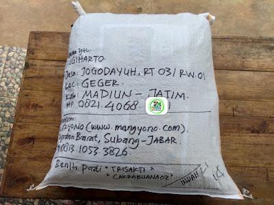 Benih Pesanan   SUGIHARTO Madiun, Jatim.  (Setelah Packing)