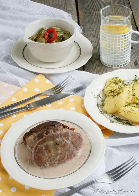 obiad, podroby w sosie, sos chrzanowy, daylicooking