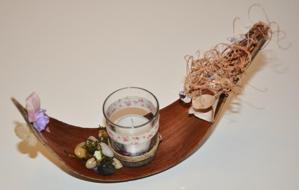 Kronleuchter Teelicht ~ Jennys welt und ihr zuhause: teelicht im kokosblatt