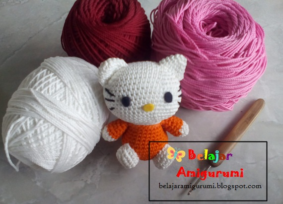 Pola Gratis Gantungan Kunci Amigurumi : Hello kitty belajar amigurumi