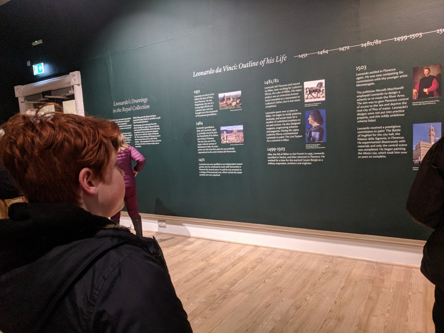 5 Reasons to Visit the Leonardo da Vinci: A Life in Drawing Exhibition at Sunderland Museum & Winter Gardens with Kids - information wall