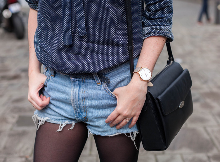 boyfriend shorts, cluse watch