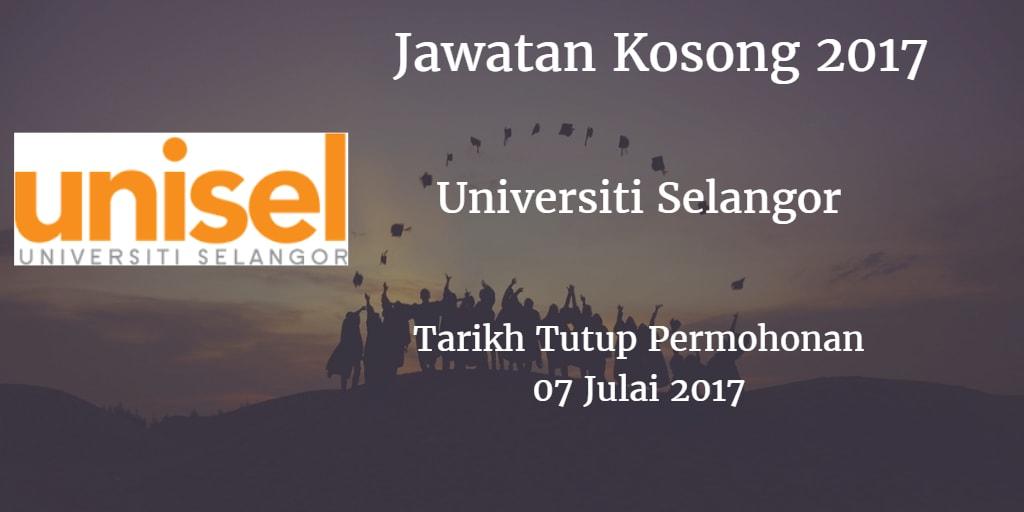Jawatan Kosong UNISEL 07 Julai 2017