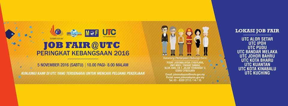Program Job Fair Di UTC Seluruh Malaysia Peringkat Kebangsaan 2016