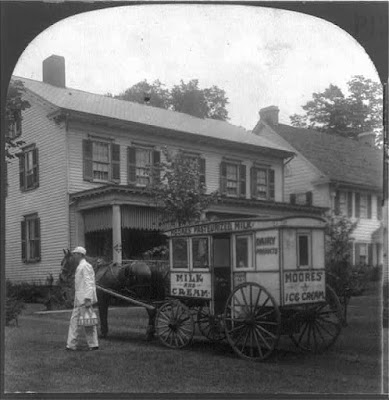 Climbing My Family Tree: Milk Delivery to City Homes (In the public domain; LOC)