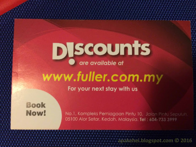 Fuller Hotel Discount card