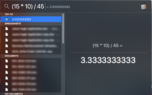 Tip: Use Spotlight Search as a quick calculator