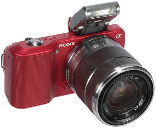 sony nex-3 red with flash discontinued