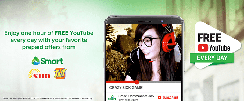 Smart is giving FREE YouTube access for 1 hour daily!