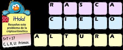 Criptoaritmética, Criptosuma, Criptograma, Alfamética, Juego de Letras