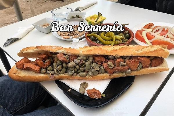 Almuerzo XXL en el bar Serrería de Valencia
