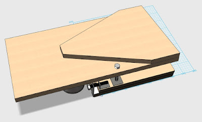3D diagram of barn door tracker with larger bottom plates