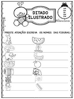 atividades de Ortografia, Ditado alfabetização, Dificuldades ortográficas,