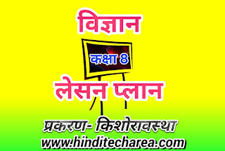 Lesson plan for science in Hindi class 8