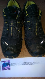 a pair of runners posted in for the  Millions Missing Event in Dublin