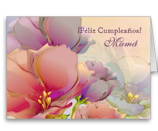 feliz cumpleaños mama postal