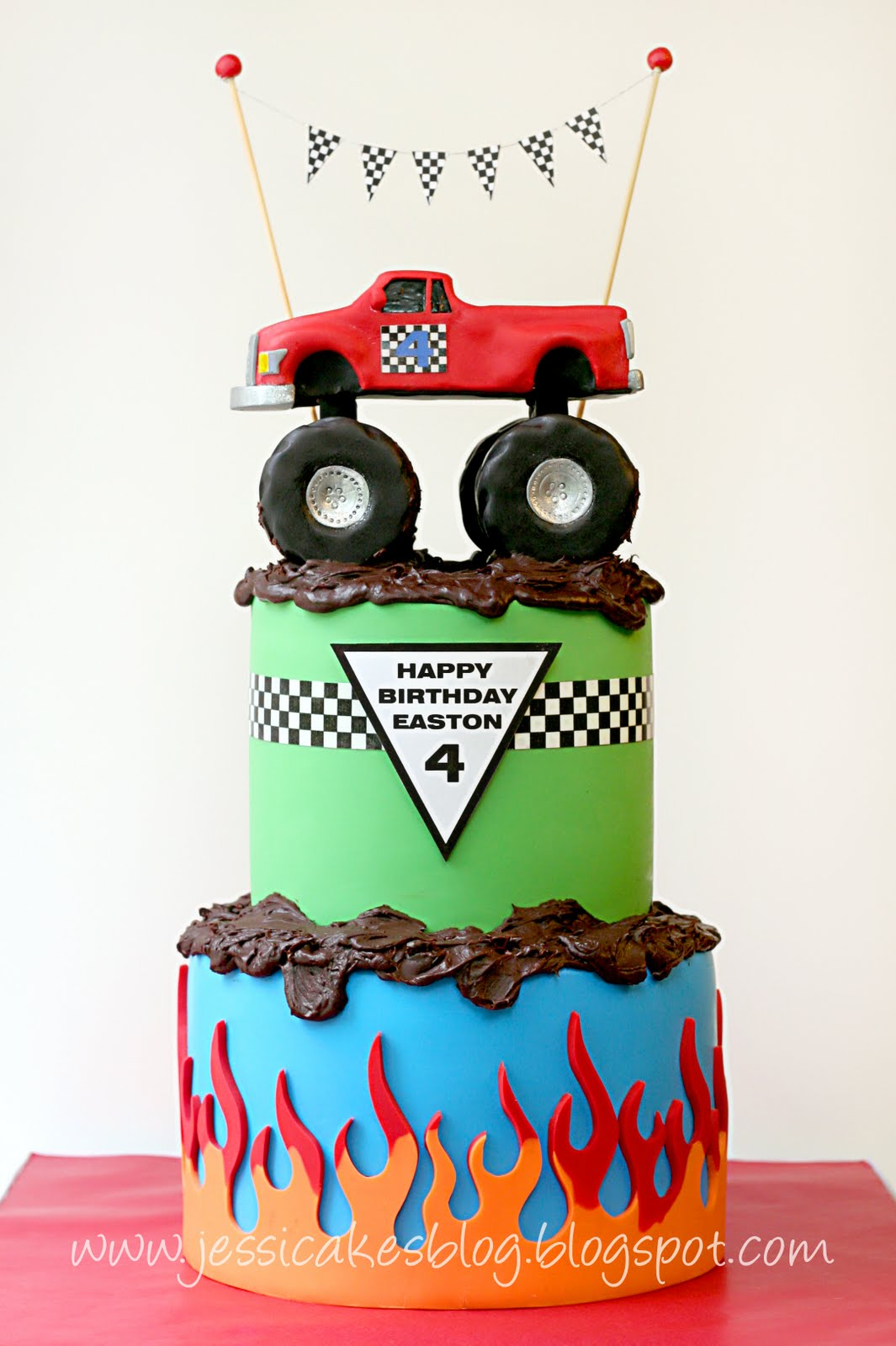 Miraculous Monster Truck The Completed Cake Part 3 Or 3 Jessica Harris Funny Birthday Cards Online Elaedamsfinfo