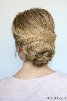 Tutorial; Fishtail Wrapped Low Bun