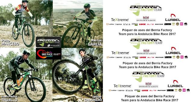 Trujillo, Mancebo, Marcos García y Javier Salamero, bazas del equipo de UCI de Berria Bike para luchar por la prueba andaluza