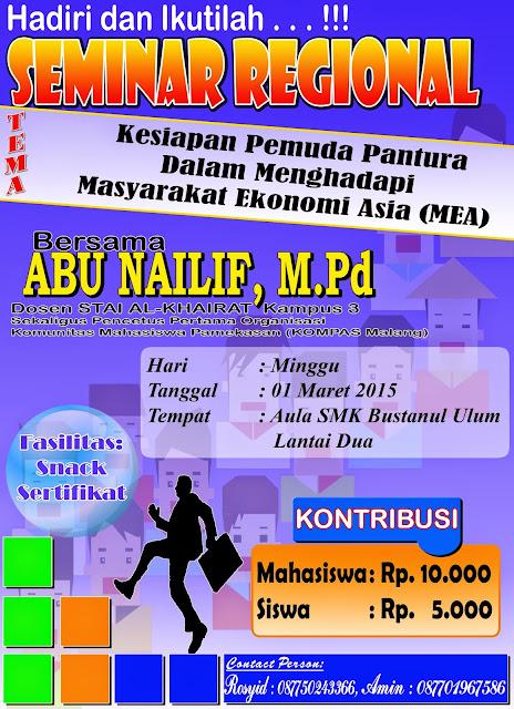 Seminar Regional Oleh OSIS SMK Bustanul Ulum Waru - SMK Bustanul Ulum Tagangser Laok Waru Pamekasan Madura Jawa Timur