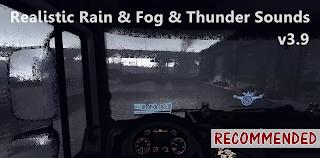 ets 2 realistic rain fog thunder sounds v3.9