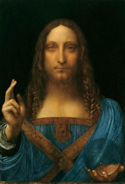 Jésus-Christ en salvator mundi.