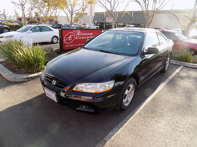 Peeling Honda Accord Coupe after complete car paint at Almost Everything Auto Body.