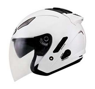 Harga Helm KYT Plain Pearl White