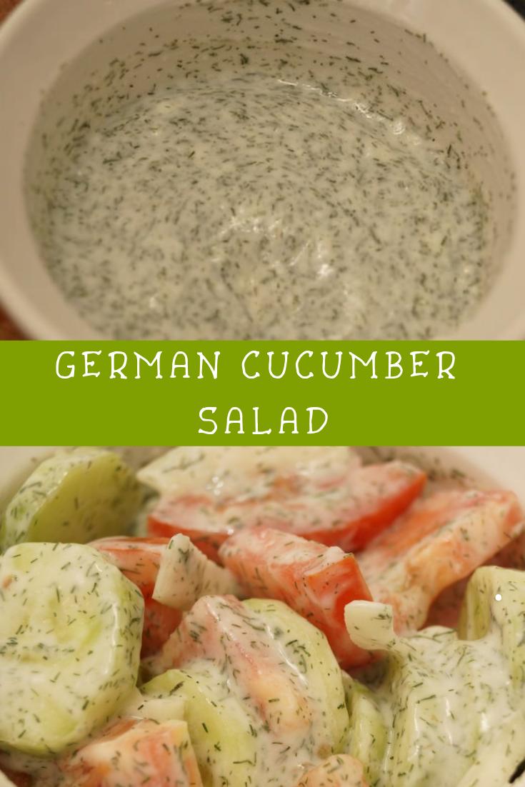 GERMAN CUCUMBER SALAD RECIPE