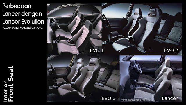Perbedaan interior jok Lancer Evolution