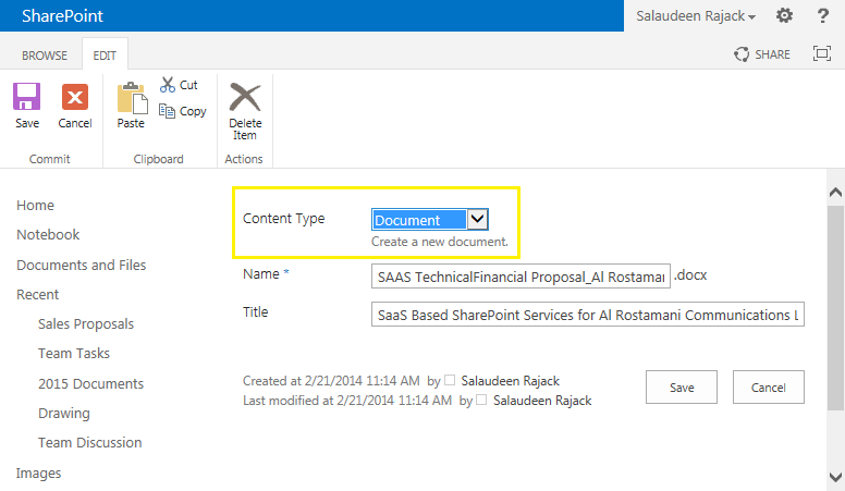 Change Content Type of Existing Items in SharePoint using