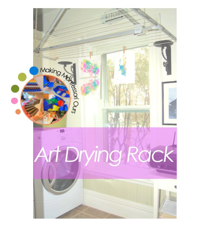 how to make an art drying rack