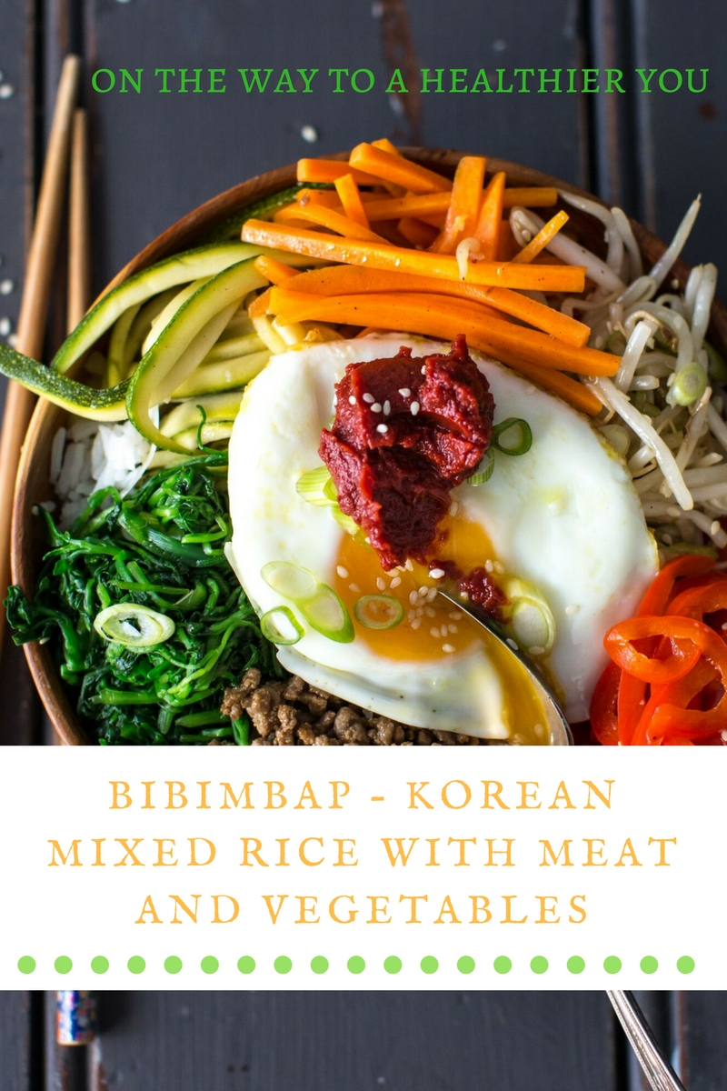 Bibimbap – Korean Mixed Rice With Meat And Vegetables