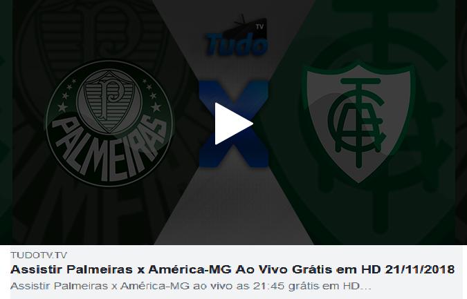 Assistir Palmeiras x América-MG Ao Vivo Grátis em HD 21/11/2018  (TV TUDO)