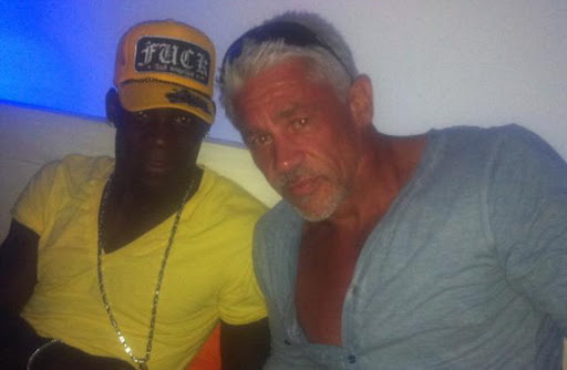 Mario Balotelli spent time with Wayne Lineker at his exclusive bar in Ibiza last week
