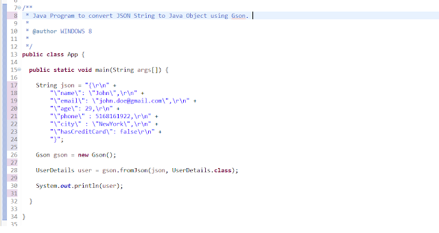 How to Escape JSON String in Java- Eclipse IDE Tips