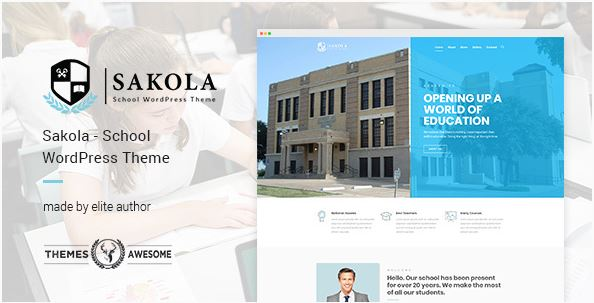 education wordPress themes 2018