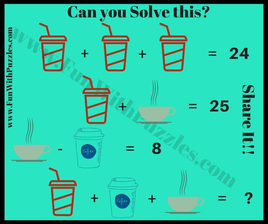 Math Brain Teasers for Kids with Answers and Explanations - Fun With ...