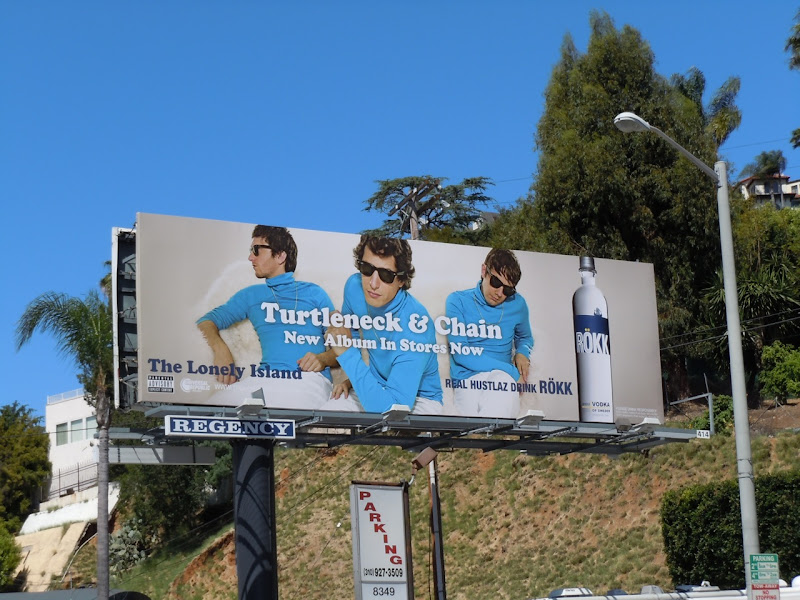 Turtleneck and Chain Lonely Island billboard