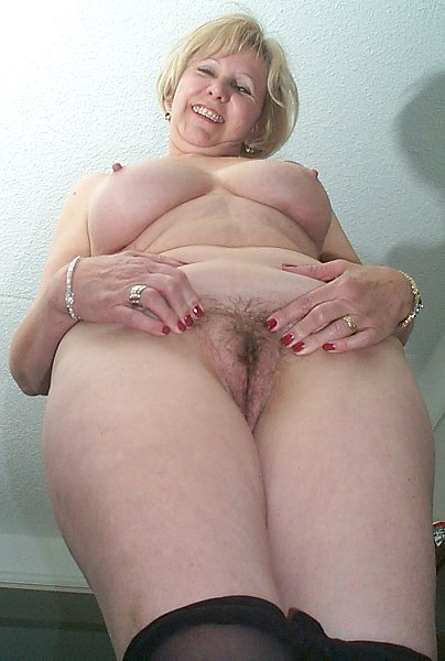 Europemature blonde hairy grannies cindy and sami 8