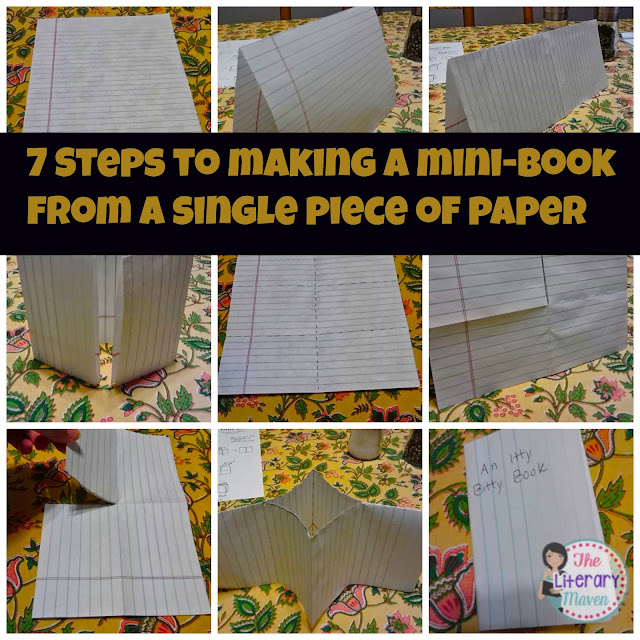 Make a mini-book in just seven steps with a single sheet of paper. This hands-on classroom project does not require scissors, glue, or a stapler.