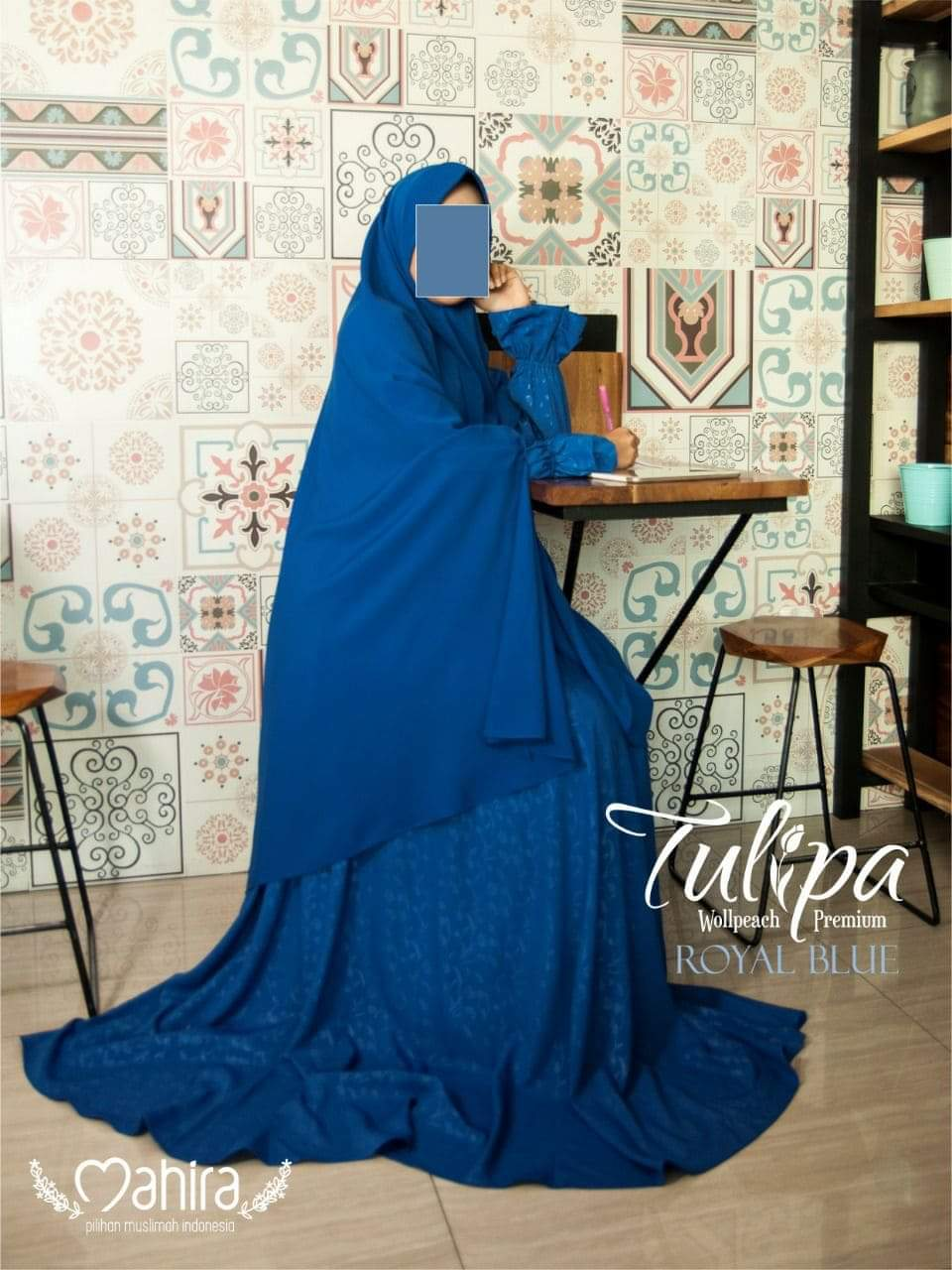 Mahira Tulipa Wollpeach Premium Royal Blue
