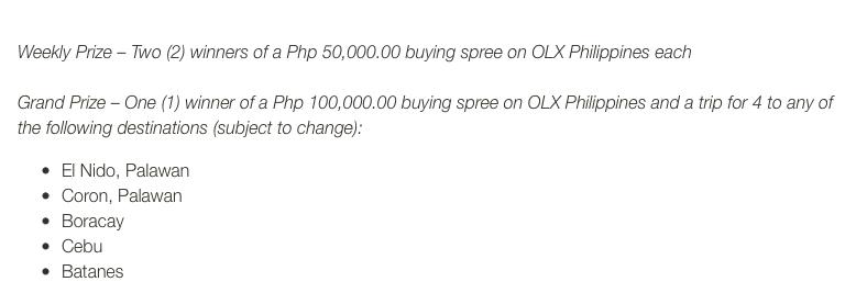 OLX Philippines, Naksperience, SELLebrate Summer Promo, OLX Cebu Ambassador, OLX mobile app, Posting on OLX mobile app, dream vacation promo