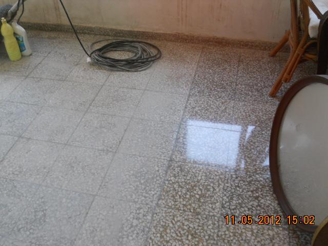 Piso de terrazo medio abillantado - Pulidor de suelos ...