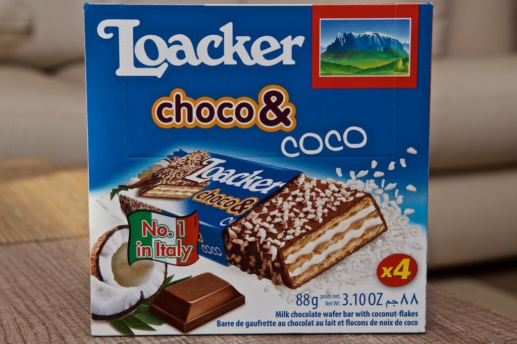 Barres Chocolat & Coco (88g) par Loacker