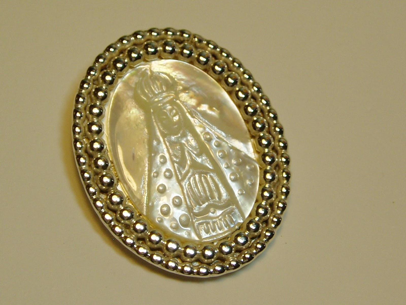 Nossa Senhora Aparecida Joias: JÓIAS DE PROTEÇÃO: Medalha Em Prata De Nossa Senhora