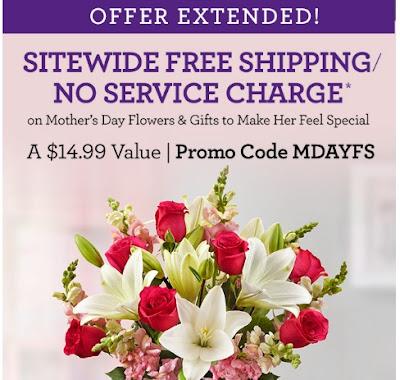 teleflora promo code free service fee