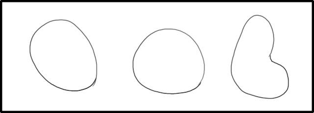 Нарисуем три  овала простой формы, не волнуйтесь если получаться кривые
