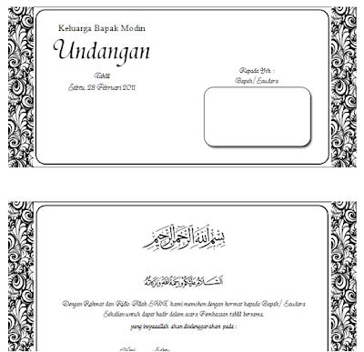 Undangan Walimatul Ursy Tahlil Dan Aqiqah Dengan Format Docx Ms