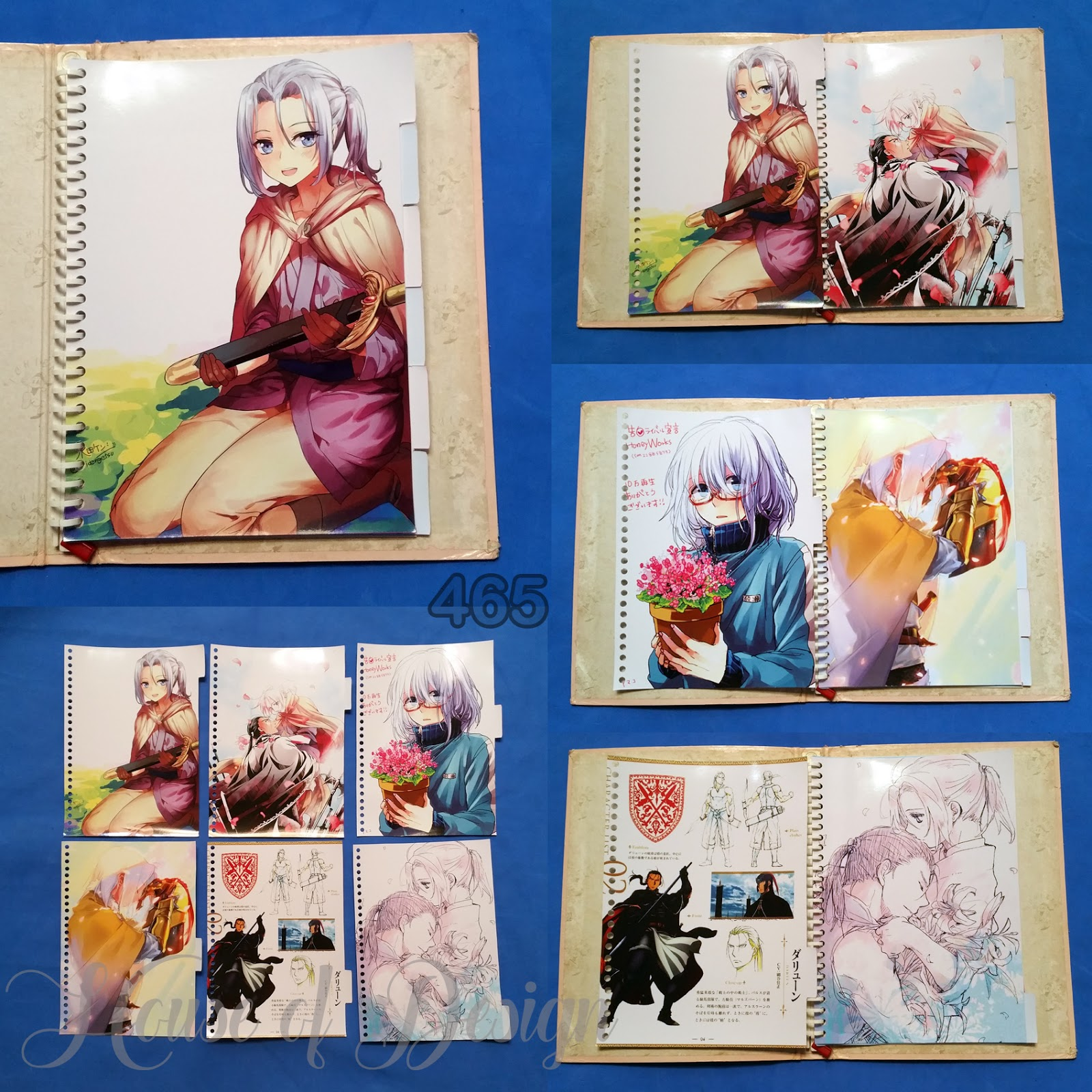 PEMBATAS BINDER SAMPING 26 RING UKURAN B5 ANIME CUSTOM